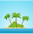 paradise in hawaii tropical island in the sea vector image