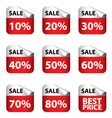 Sale Banner with Many discount price sign isolated vector image