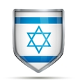 Shield with flag Israel vector image