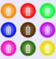 Thermometer icon sign Big set of colorful diverse vector image