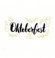 Oktoberfest Lettering Card vector image