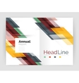 Set of business straight lines abstract vector image vector image