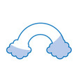 clouds with rainbow weather icon vector image vector image
