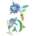 Ottoman art flowers ten vector image