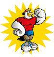 gym eagle vector image vector image