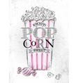 Poster popcorn sweet vector image