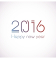 Happy New Year 2016 celebration greeting card vector image