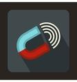 Horseshoe magnet icon flat style vector image