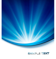 Blue elegant abstract background vector image vector image