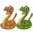 Cartoon rattlesnake vector image