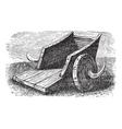 chariot vintage engraving vector image