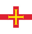 guernsey national flag vector image
