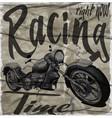 legendary vintage racers t-shirt label design vector image