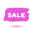 Pink sparkling brush strokes vector image