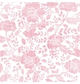 Pink textile birds and flowers seamless pattern vector image
