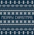 Christmas background with Scandinavian seamless vector image