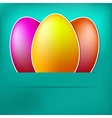 Blue Paper easter egg card  EPS8 vector image
