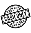Cash Only rubber stamp vector image