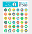 Business and marketing round icons vector image