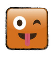 cartoon face icon vector image