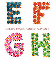 colorful funny paint alphabet efgh letters vector image