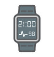 Smart watch colorful line icon gadget and device vector image