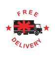 Free Delivery Truck Retro vector image