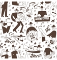 jazz musicians -seamless background vector image