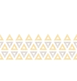 Abstract textile ikat yellow brown triangles vector image