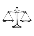 justice scales vector image vector image