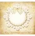 vintage christmas background vector image