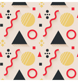 Abstract geometric seamless pattern with long vector image