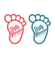 baby foot baby shower invite greeting cards vector image
