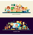 Education website header banner with webdesign vector image