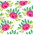 elegant flowers decorative pattern vector image