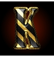 golden and black letter k vector image