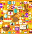 orange easter seamless pattern vector image