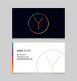 business-card-letter-y vector image vector image