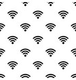 seamless pattern with wi-fi symbol vector image vector image