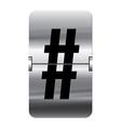 Alphabet silver flipboard letters hash vector image vector image