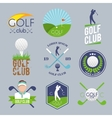 Golf label set vector image