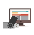 pen drive design vector image