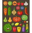 Big set of fruit and vegetables with persons and vector image