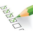 Checklist vector image
