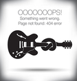 Guitar Knot 404 vector image
