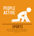 people active vector image
