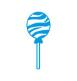 round lollipop candy sweet flavor icon vector image