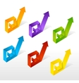 set of colorful arrow vector image
