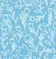 Cartoon floral pattern vector image vector image