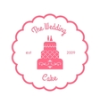 The wedding cake logo vector image